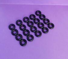 DINKY 20 x nera liscia PNEUMATICI AUTO CAMION 15 mm si adatta a alcune altre Corgi, ecc.