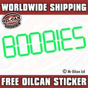 BOOBIES car sticker / decal retro eighties jdm 180mm wide