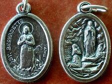 Saint St. Bernadette Medal + Our Lady of Lourdes + Apparition + Healing