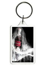 COCA COLA KEYCHAIN - DOUBLE SIDED ACRYLIC BEVERAGE KEYRING