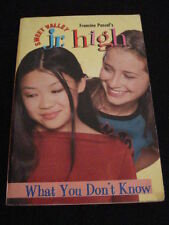 msm FRANCINE PASCAL - SWEET VALLEY JR. HIGH # 22 ~ WHAT YOU DON`T KNOW