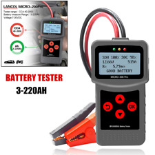 12V Car Motorcycle Battery Tester Capacity Load Battery System Charging Analyzer