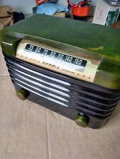 Vtg Bendix 526C Green Swirl Catalin Tube Radio--STUNNING--BENDIX Catalin 526C