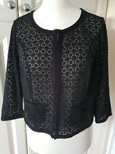 PEPPERBERRY Really Curvy Bolero Jacket Size 14 Black Crochet New Bnwt £55 RRP