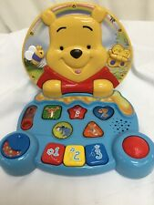 V-Tech Winnie The Pooh Play & Learn Laptop USED VGC