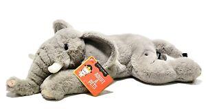 "FAO Schwarz Adopt A Pets Toy Plush Elephant 15"" With Tag"