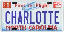 Charlotte North Carolina Aluminum NC License Plate