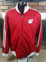 Adidas Full Zip Wisconsin Badgers NCAA Track Basketball Jacket Mens Size Medium
