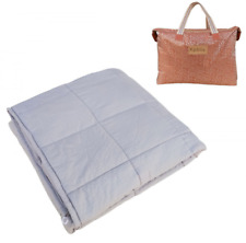 Weighted Blanket Gravity Sensory Heavy Throw Cotton Cozy Bed Blankets Adults...