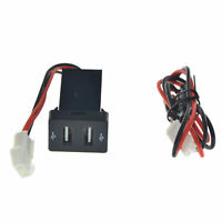 12V Twin Dual Double 2 USB Port Charger Adapter In Car Socket Lighter For Toyota