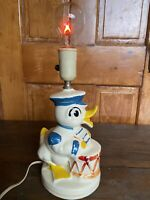 Vintage Donald Duck Drum Lamp WORKS