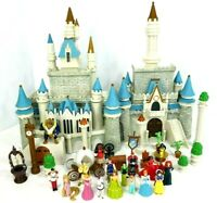 Disney Castle Princess Dolls Figures Lot Walt Disneyland World Playset Dollhouse