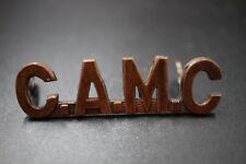 WWI CEF C.A.M.C. (Canadian Army Medical Corps)  Shoulder Tile P.W.ELLIS