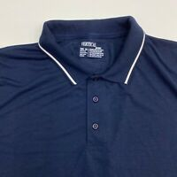 New Vertical Polo Shirt Mens XXXL Navy Blue Short Sleeve Casual