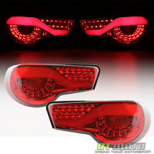 2012-2016 BRZ FR-S Red Clear LED Tail Lights w/LED Brake Signal Lamps Left+Right