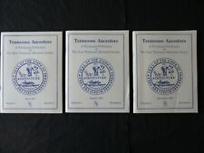 """3 1987  """"Tennessee Ancestors, Books of East Tennessee Historical Society"""""""