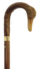 CANES -  JUST DUCKY CROOK HANDLE WALKING STICK - DUCK CANE