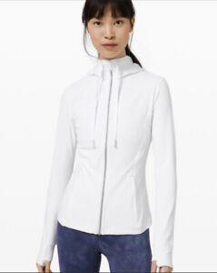LULULEMON Women Jacket White Hooded DEFINE SZ 8