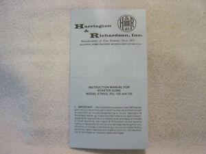 H & R HARRINGTON RICHARDSON STARTER GUNS STR 022 032 122 132 instr owner manual