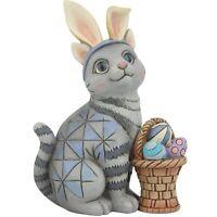 Jim Shore Heartwood Creek Miniature Easter Cat with Bunny Ears Figurine 6008412