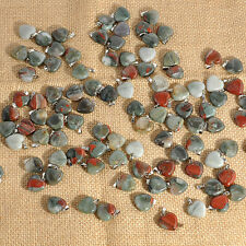 1/5/10pcs Natural Crystal Gemstone Healing Chakra Reiki Pendant Bead Heart Stone