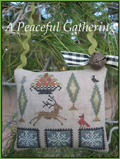 10% Off The Scarlett House counted X-stitch chart - A Peaceful Gathering