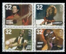 #3215A, 32¢ Folk Singers Stamps Lot Of 75 Blks. Of 4, Spice Up Your Mailings!