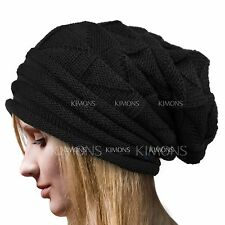 Knit Men's Women's Baggy Beanie Oversize Winter Hat Ski Slouchy Chic Cap Skull