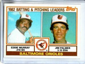 1983 TOPPS EDDIE MURRAY & JIM PALMER ORIOLES LEADERS ( NM-MT OR BETTER )<<