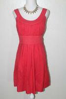 MAURICES Womens Sz XL Red Pleated Dress w/ Waist Ties