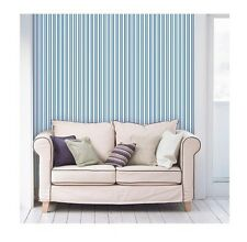 Devine Color Peel & Stick Print Pattern Wall Surface Covering Blue- Stripe Crest 00004000