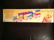 disney store winnie the pooh roll 'n go construction train very rare new sealed