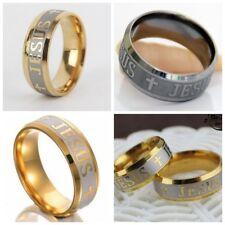100 Wholesale Jesus cross ring Prayer Stainless steel Ring  Rings Christian