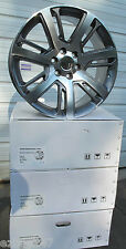 "22"" CADILLAC ESCALADE FACTORY STYLE MACHINED FACE GUNMETAL WHEELS RIMS 4738"