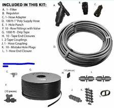 Garden Drip Irrigation Kit GK1000-RV 10 row 1000ft vegetable hemp water tape