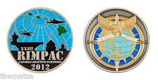 """MARINE CORPS RIMPAC RIM OF THE PACIFIC COMMAND 1.75"""" CHALLENGE COIN"""