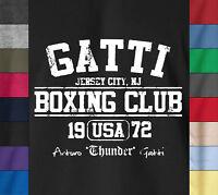 GATTI BOXING CLUB T-Shirt Arturo Italian Boxer Champ MMA Combat Gym Ringspun Tee
