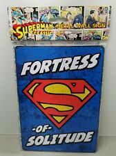 DC Comics Metal Super Man Fortress of Solitude Sign 21 x 15cm Stocking Filler