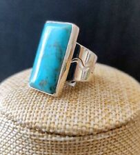 Jay King Rectangular Nako Turquoise Sterling Silver Ring Size 8 NWT