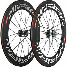 SUPERTEAM 88mm Carbon Wheelset Track Bike Carbon Wheels Fixed Gear Bicycle Wheel