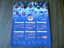 NEW! BUFFALO BISONS 2018 Schedule Poster, Toronto Blue Jays, Celery