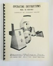 Storm Vulcan Model 140 Kota Weld Crankshaft Welder Manual