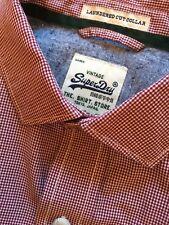 Superdry Mens Short Sleeve Gingham Check Shirt S