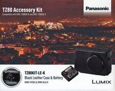 Panasonic Lumix TZ80 Black Leather Case and Battery Kit - TZ80KIT-LE-K