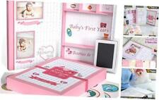 Baby Memory Book With Keepsake Box, Baby Milestone Stickers And Baby Pink