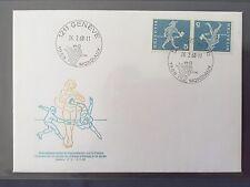 SWITZERLAND FDC 1968 HELVETIA 26.2.1968 Championnat du monde de patinage Genf