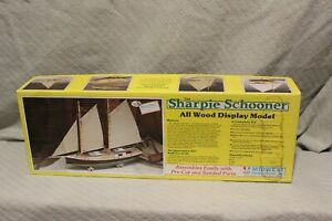 MIDWEST PRODUCTS THE SHARPIE SCHOONER ALL WOOD DISPLAY MODEL KIT #968 New In Box