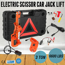 3 Ton Automotive Electric Scissor Car Jack Lift Car Floor Jack 100W 12V DC