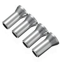 4X TR414 Chrome Wheel Tyre Valve Caps Stem Covers 27mm 20mm Alloy Silver Set 4