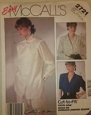 VINTAGE 1980 s Sewing Pattern McCall's 2721 MISSES'S BLOUSE UC 12-14-16